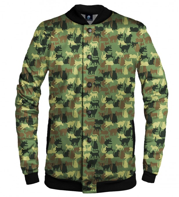 CAMO CATS BASEBALL JACKET Thumbnail 1