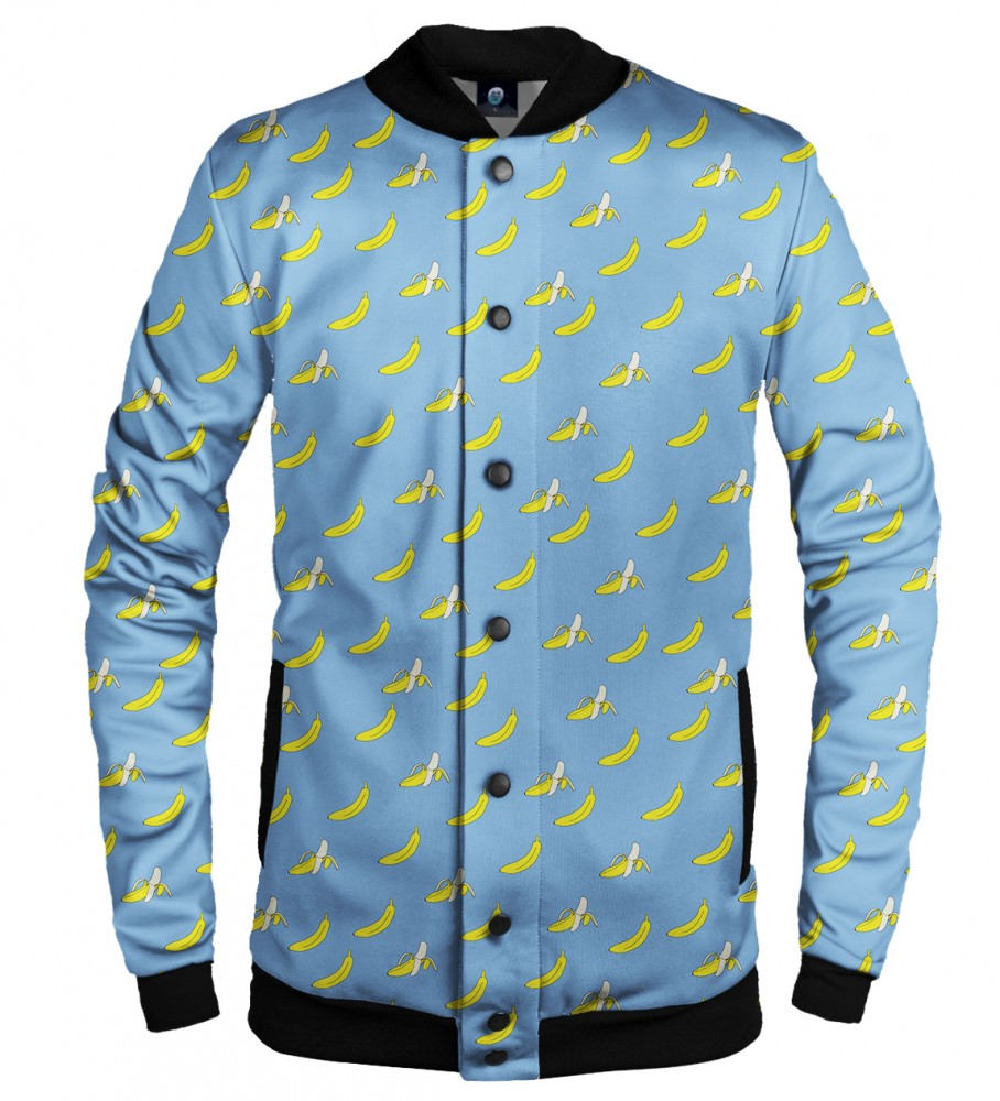 Aloha From Deer, BANANA HEAVEN BASEBALL JACKET Image $i