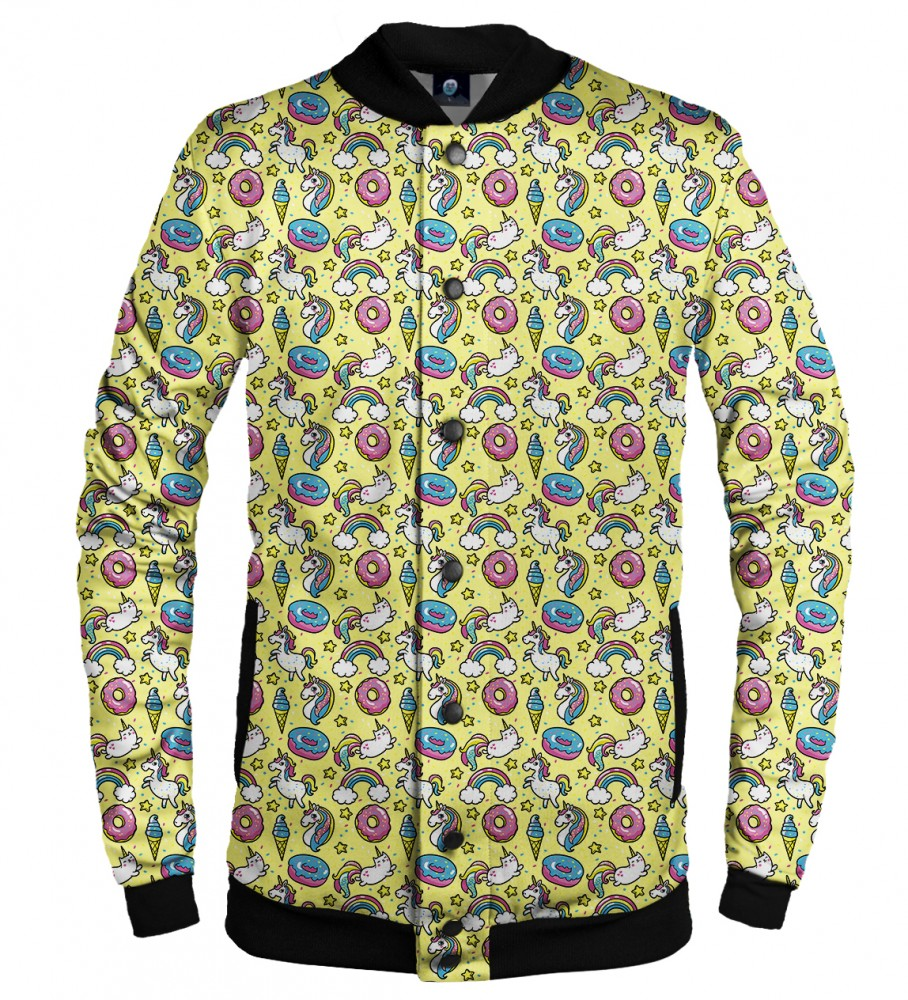 Aloha From Deer, UNICORN HEAVEN BASEBALL JACKET Image $i