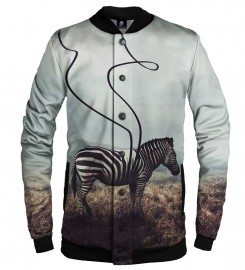 Aloha From Deer, LOST STRIPES BASEBALL JACKET Thumbnail $i