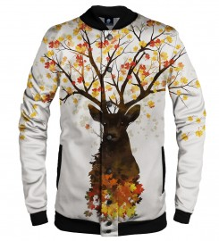 Aloha From Deer, INTO THE WOODS BASEBALL JACKET Thumbnail $i