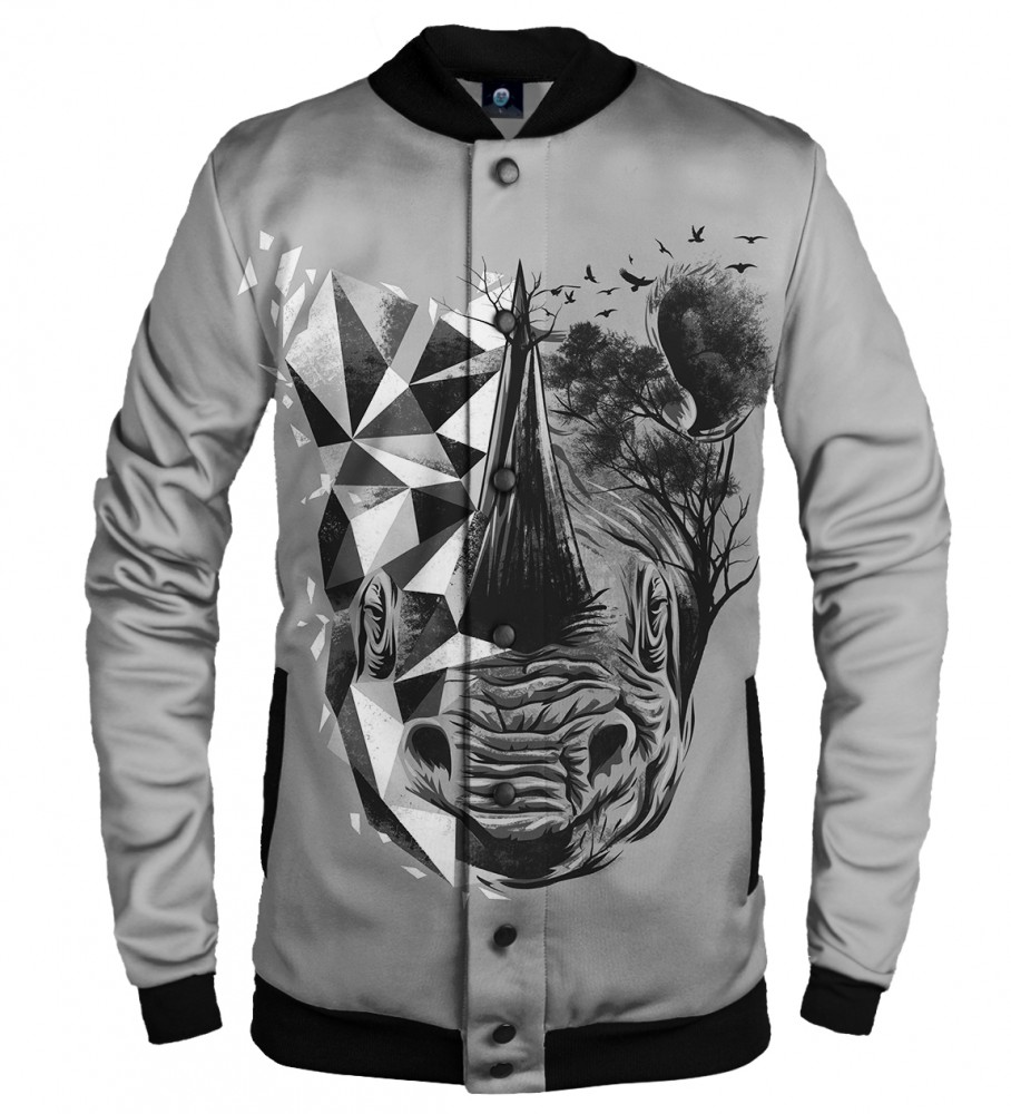 Aloha From Deer, RHINO BASEBALL JACKET Image $i