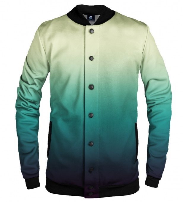 SOAKING WET OMBRE BASEBALL JACKET Thumbnail 1