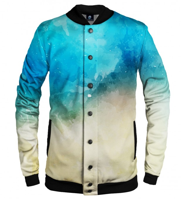 SEASIDE WATERCOLOR BASEBALL JACKET Thumbnail 1