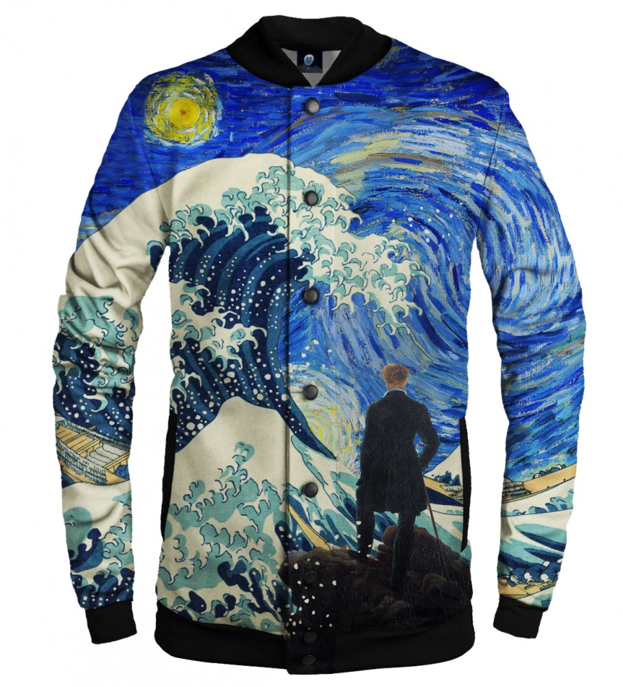 Aloha From Deer, STARRY WANDERER OF KANGAWA BASEBALL JACKET Image $i