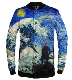 Aloha From Deer, STARRY WANDERER OF KANGAWA BASEBALL JACKET Thumbnail $i