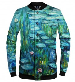 Aloha From Deer, WATER LILLIES BASEBALL JACKET Thumbnail $i