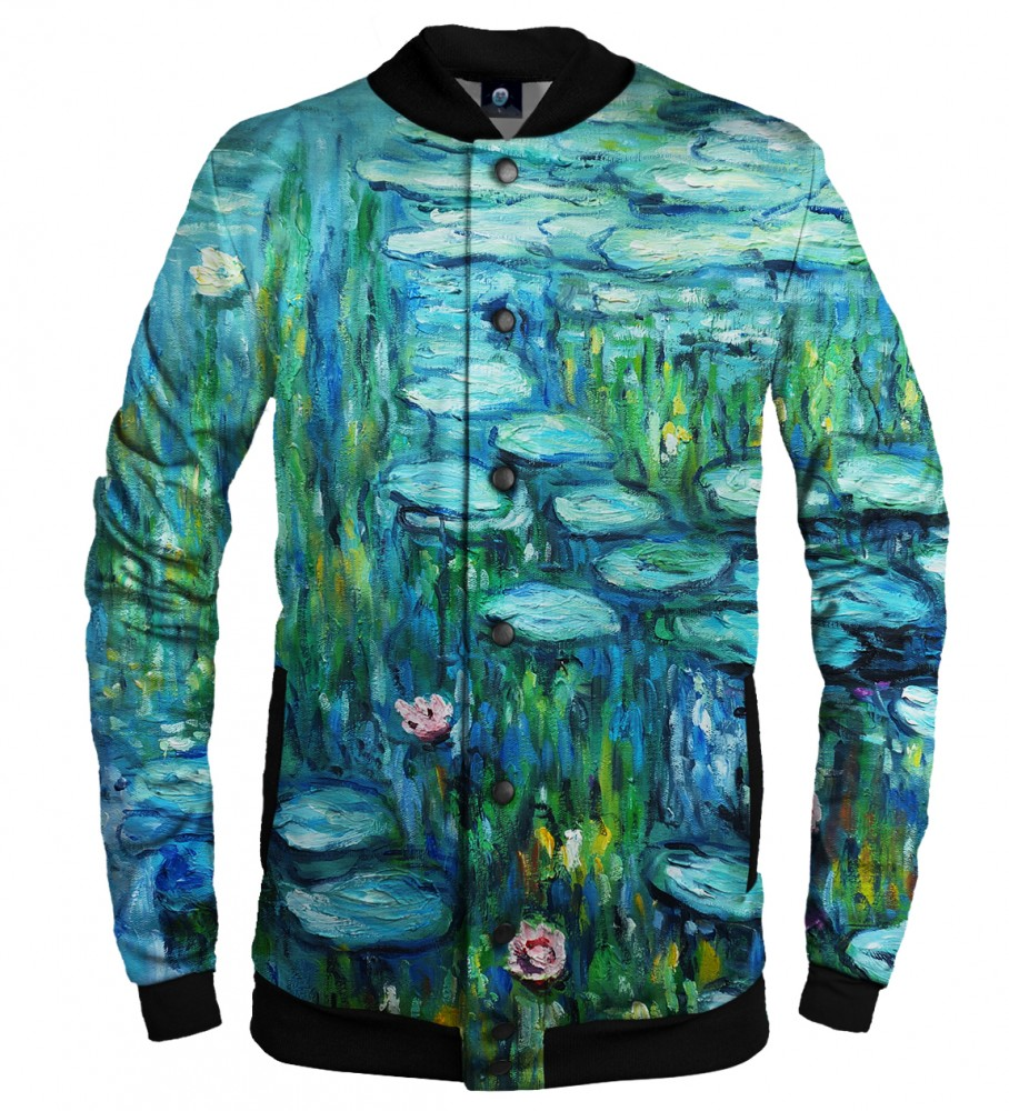 Aloha From Deer, WATER LILLIES BASEBALL JACKET Image $i