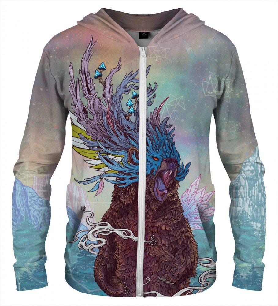 Aloha From Deer, JOURNEYING SPIRIT - BEAR ZIP UP HOODIE Image $i