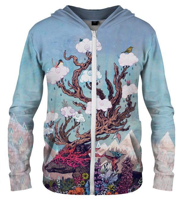 JOURNEYING SPIRIT - DEER ZIP UP HOODIE Thumbnail 1