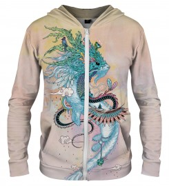 Aloha From Deer, JOURNEYING SPIRIT - ERMINE ZIP UP HOODIE Thumbnail $i