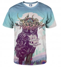 Aloha From Deer, JOURNEYING SPIRIT - OWL T-SHIRT Thumbnail $i