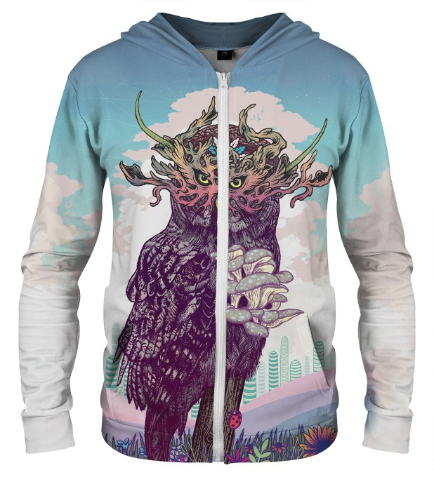 JOURNEYING SPIRIT - OWL ZIP UP HOODIE Thumbnail 1