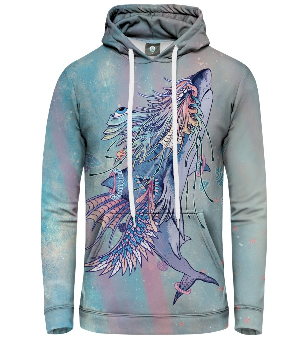 BLUZA Z KAPTUREM JOURNEYING SPIRIT - SHARK Miniatury 1