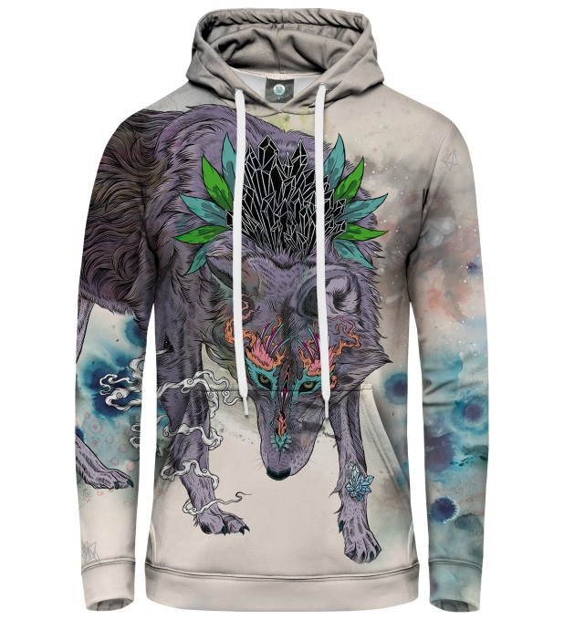 BLUZA Z KAPTUREM JOURNEYING SPIRIT - WOLF Miniatury 1