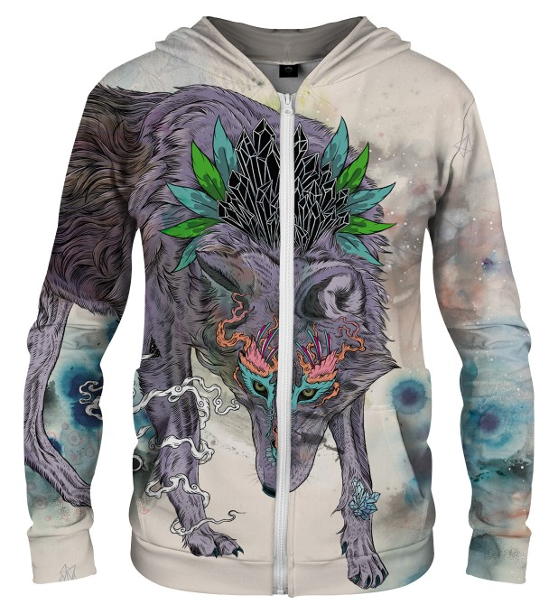 JOURNEYING SPIRIT - WOLF ZIP UP HOODIE Thumbnail 1