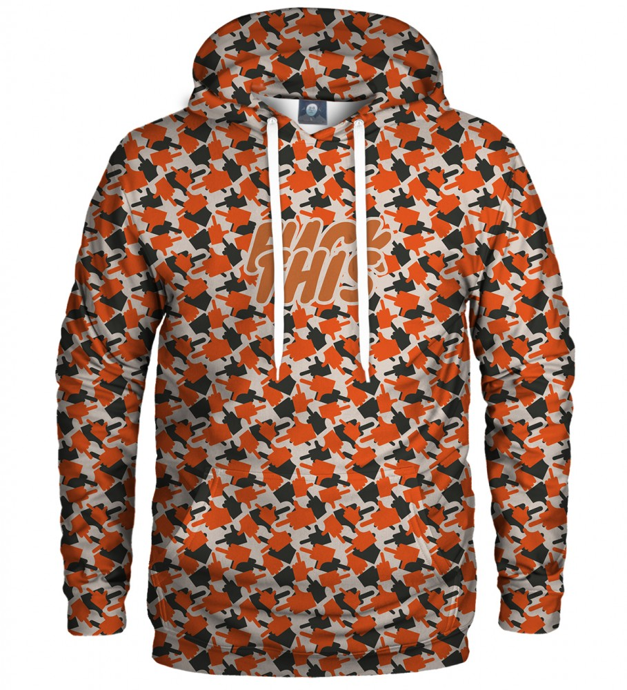 Aloha From Deer, FK THIS CAMO ORANGE HOODIE Image $i