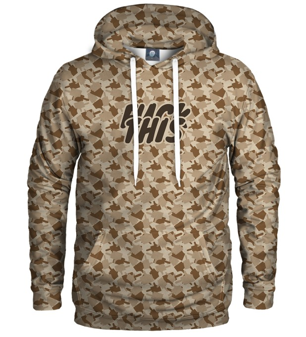 FK THIS CAMO BROWN HOODIE Thumbnail 1