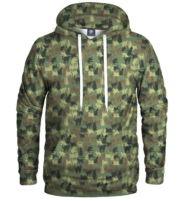 CAMO CATS PULLOVER HOODIE Thumbnail 1