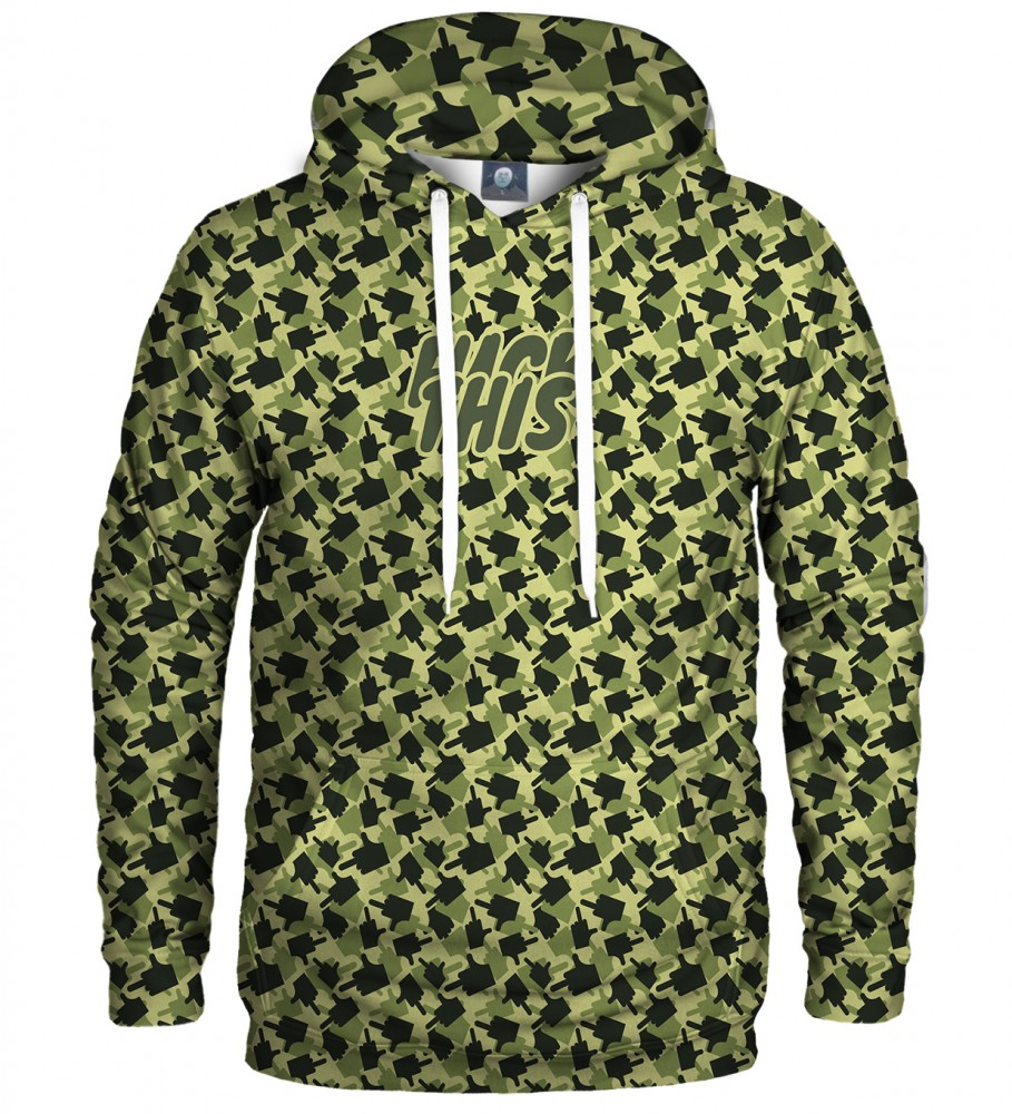 Aloha From Deer, FK THIS CAMO GREEN HOODIE Image $i