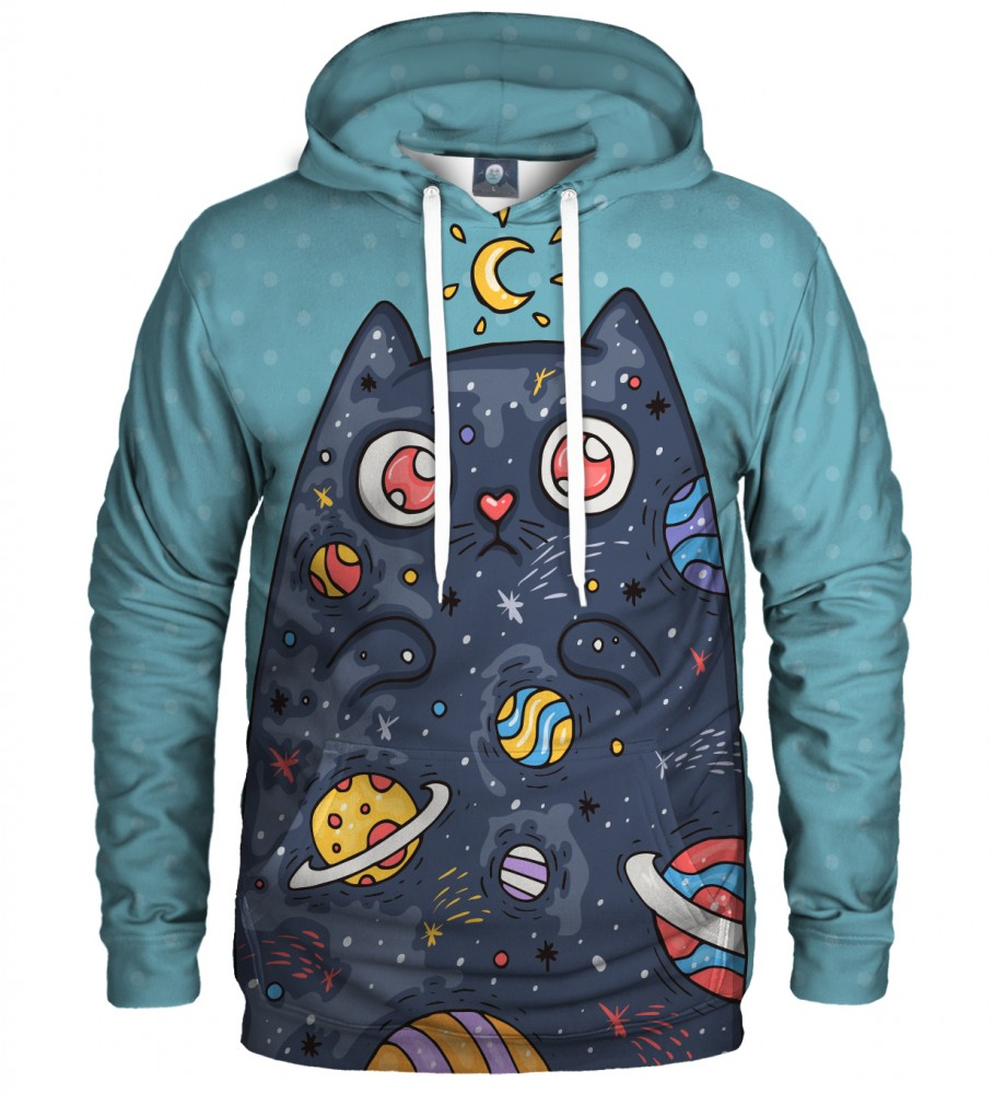 Aloha From Deer, SPACE CAT HOODIE Image $i