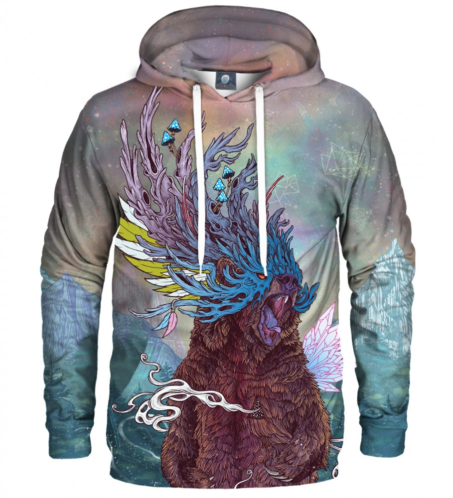 Aloha From Deer, JOURNEYING SPIRIT - BEAR HOODIE Image $i