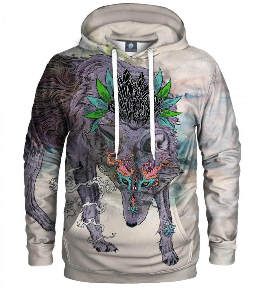 Aloha From Deer, JOURNEYING SPIRIT - WOLF HOODIE Image $i