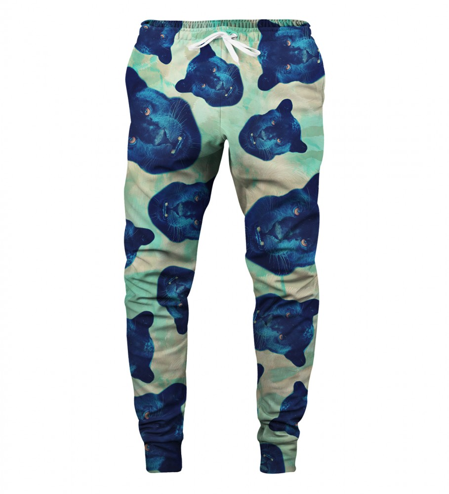 Aloha From Deer, PANTHER HEADS SWEATPANTS Image $i
