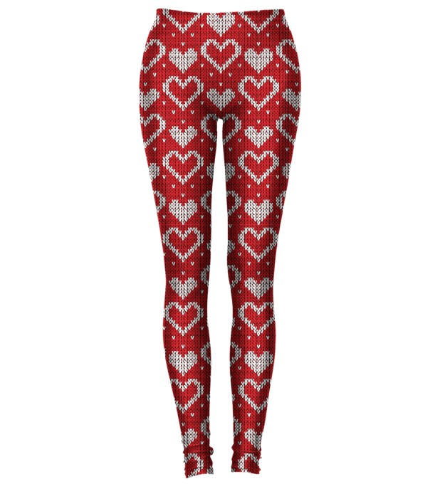 FAKE KNIT SERIES - RED HEARTS LEGGINGS Miniatury 1