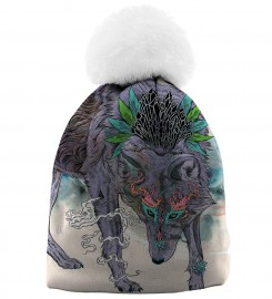 Aloha From Deer, JOURNEYING SPIRIT - WOLF BEANIE Thumbnail $i