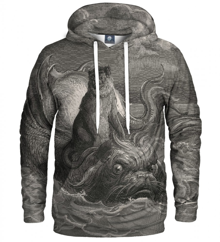 Aloha From Deer, Dore series - monkey on a dolphin HOODIE Image $i