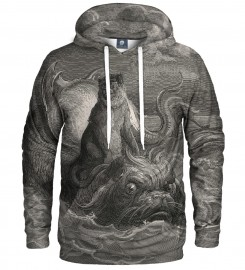 Aloha From Deer, Dore series - monkey on a dolphin HOODIE Thumbnail $i