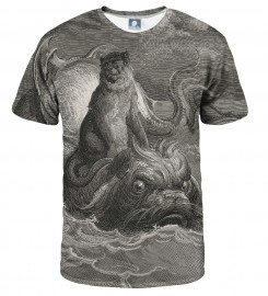 Aloha From Deer, Dore series - monkey on a dolphin T-SHIRT Thumbnail $i