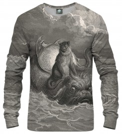 Aloha From Deer, Dore series - monkey on a dolphin SWEATER Thumbnail $i