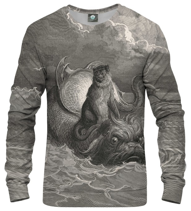 Dore series - monkey on a dolphin SWEATER Thumbnail 1