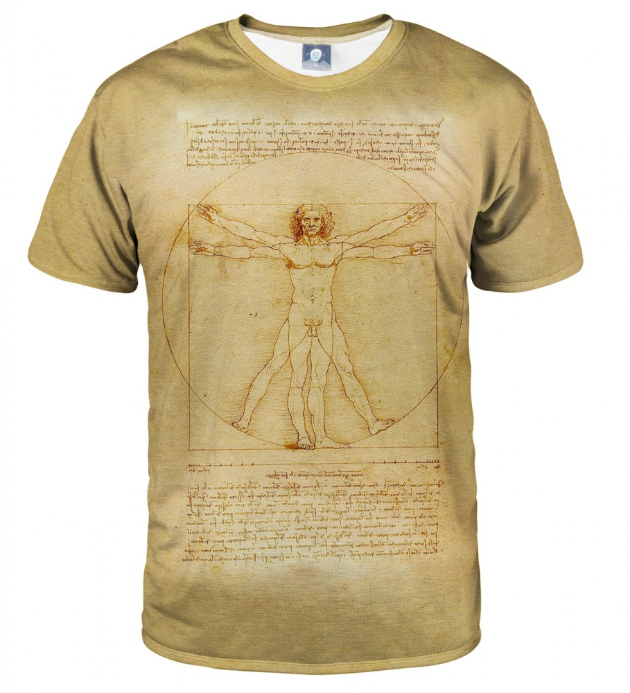 Aloha From Deer, Vitruvian Man T-SHIRT Image $i