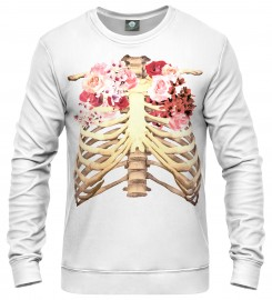 Aloha From Deer, WHITE SKELETON CHEST SWEATER Thumbnail $i