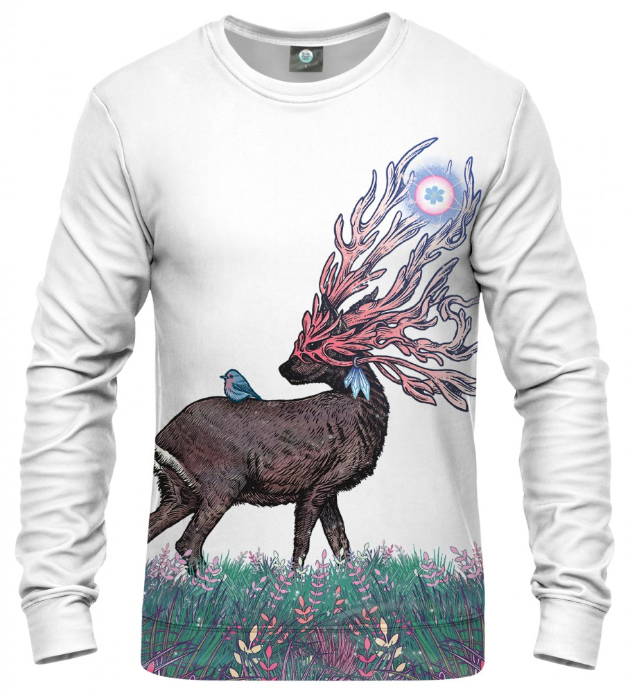 Aloha From Deer, WHITE COMPANIONS SWEATER Image $i
