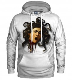Aloha From Deer, WHITE HEAD OF MEDUSA HOODIE Thumbnail $i