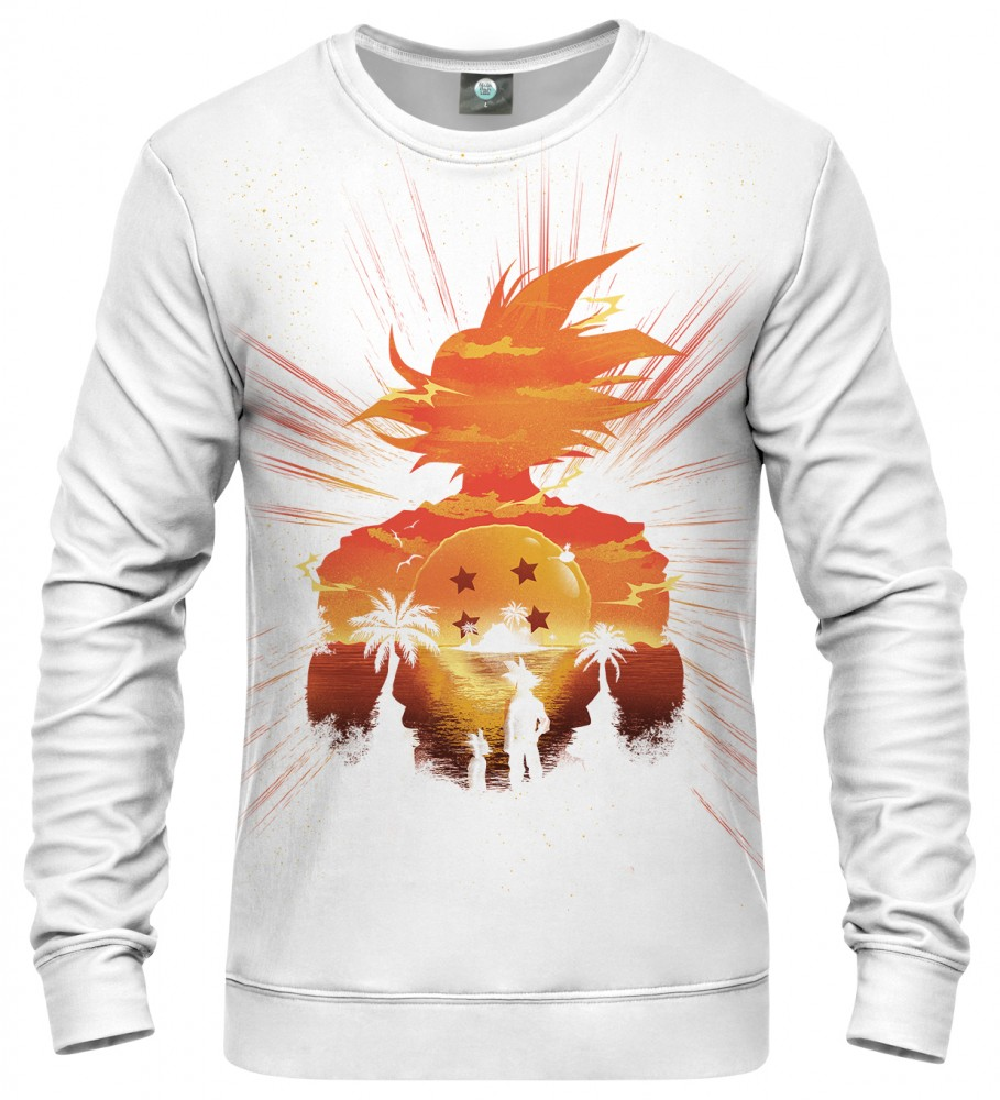 Aloha From Deer, WHITE SUPER SAIYAN SWEATER Image $i