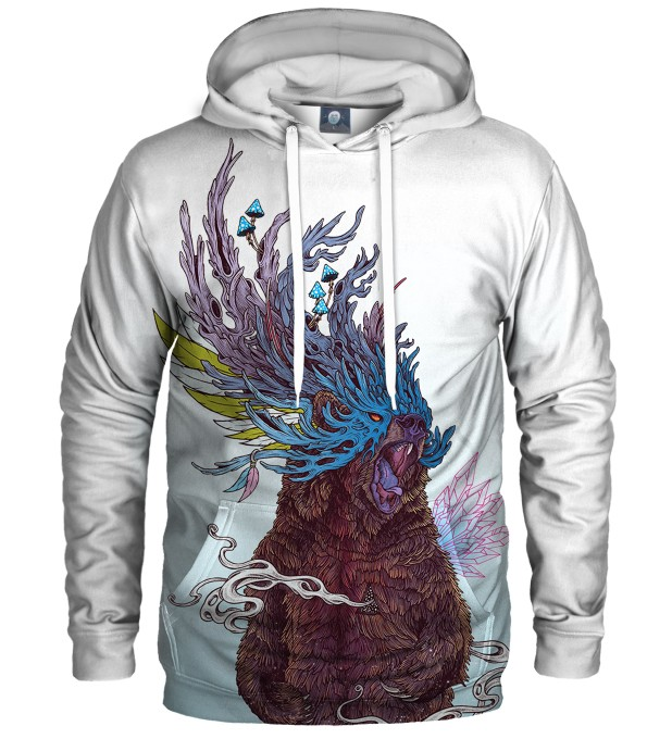 WHITE JOURNEYING SPIRIT - BEAR HOODIE Thumbnail 1