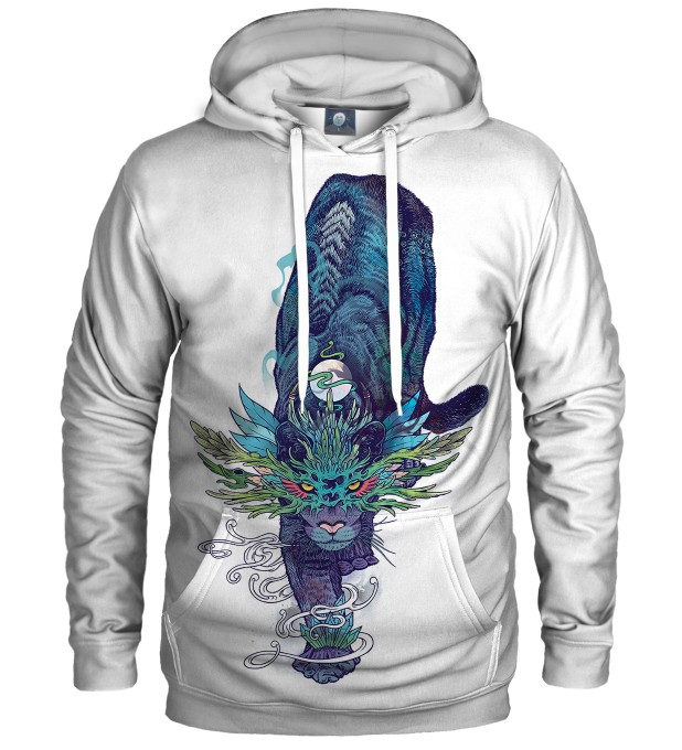 WHITE SPECTRAL CAT HOODIE Thumbnail 1