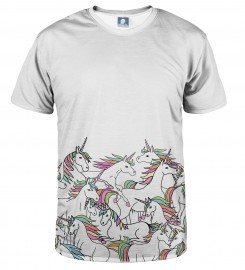 Aloha From Deer, WHITE UNICORN T-SHIRT Thumbnail $i
