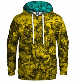 Aloha From Deer, YELLOW DURER SERIES - FOUR RIDERS HOODIE Thumbnail $i