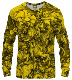 Aloha From Deer, YELLOW DURER SERIES - FOUR RIDERS SWEATSHIRT Thumbnail $i