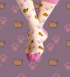 Aloha From Deer, Kitty Cat Cotton Socks Thumbnail $i