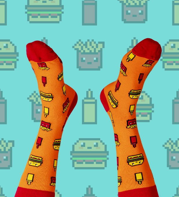 Fast Food Cotton Socks Thumbnail 1