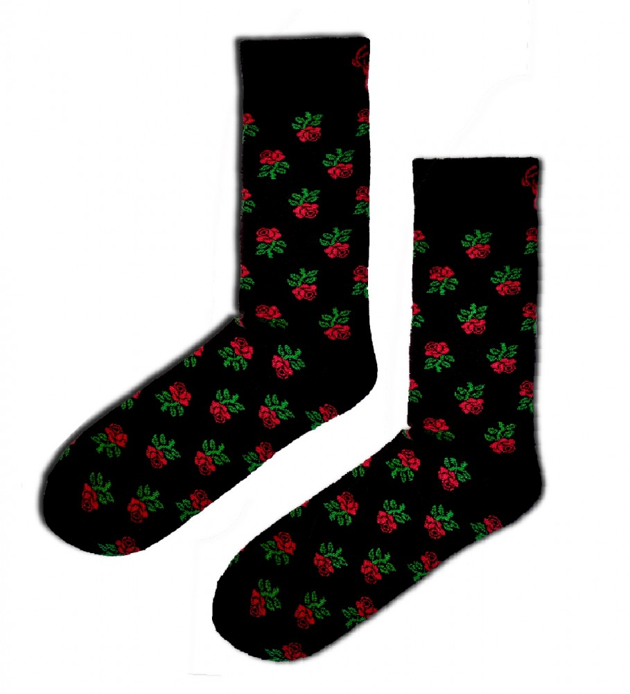 Aloha From Deer, Roses Are Forever Cotton Socks Image $i