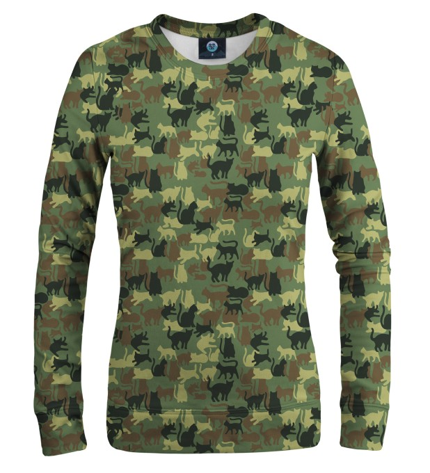 CAMO CATS WOMEN SWEATSHIRT Thumbnail 1