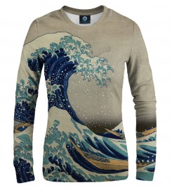 Aloha From Deer, GREAT WAVE WOMEN SWEATSHIRT Thumbnail $i